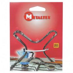 METALTEX Lot de 2 supports...