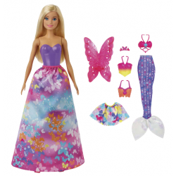 Barbie et ses 3 tenues