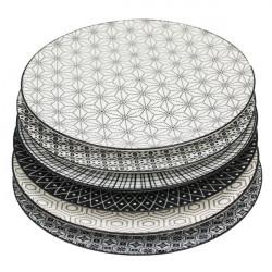 6 Assiettes plate 25.7 cm -...